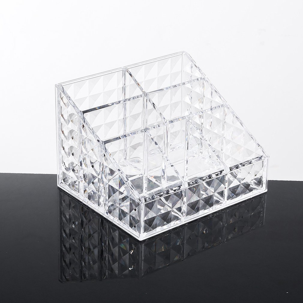 Dual Layer Durable Cotton Swabs Organizer Cotton Pads Holder Clear Acrylic Cosmetic Storage Box