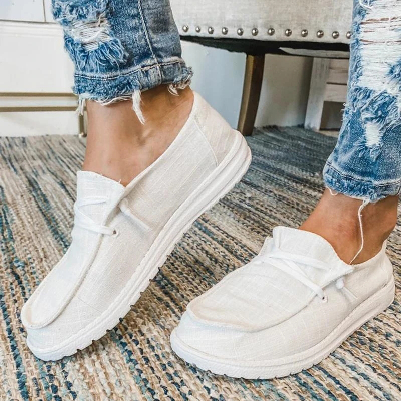 Hot Deals2020 Women Flats summer Breathable Casual Shoes Woman Lace Up Students Girl flats fashion women shoes Plus Size flats