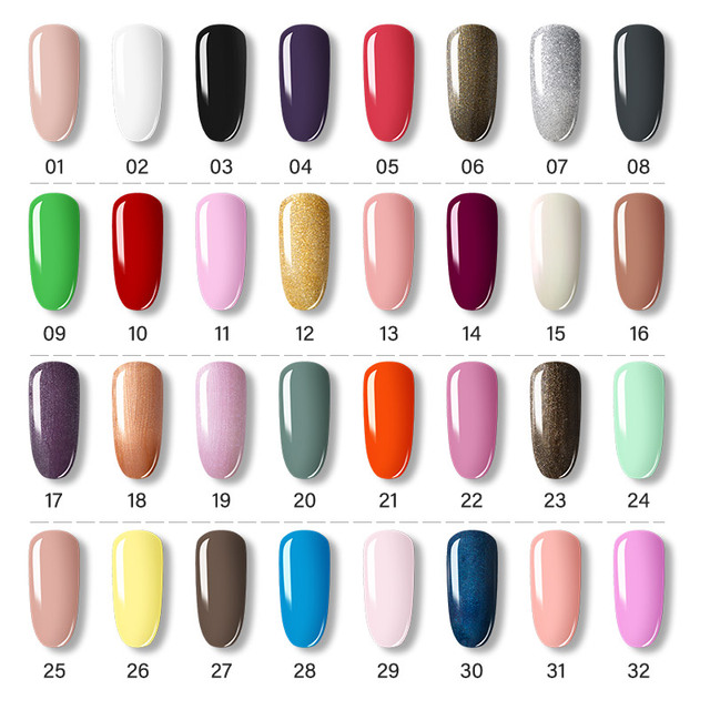 ROSALIND Gel Polish Set Manicure for Nails Semi Permanent Vernis top coat UV LED Gel Varnish Soak Off Nail Art Gel Nail Polish 1