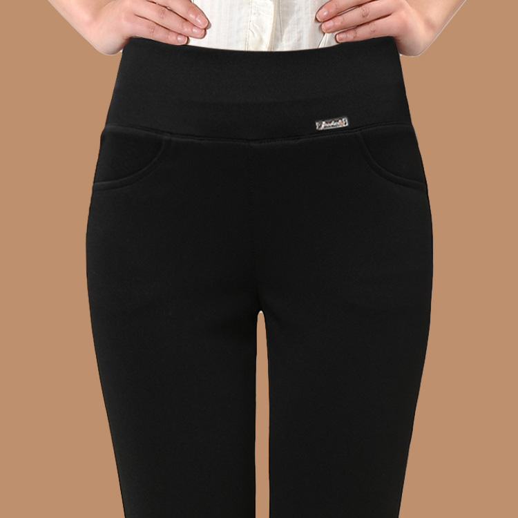 Autumn Leggings Outer Wear WOMEN'S Pants Fat Mm Large Size WOMEN'S Pants High-waisted Elasticity Black And White With Pattern Sk