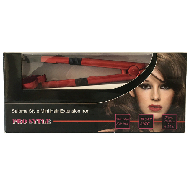 1pc US/EURO plug Salome Temperature Control  Iron Heat Keratin Hair Extensions Tools Mini Iron Fusion Connector