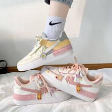 2021 de alta qualidade nova mulher sapatilha apartamentos sapatos plataforma couro do vintage sapatos casuais tênis mulher vulcanizar