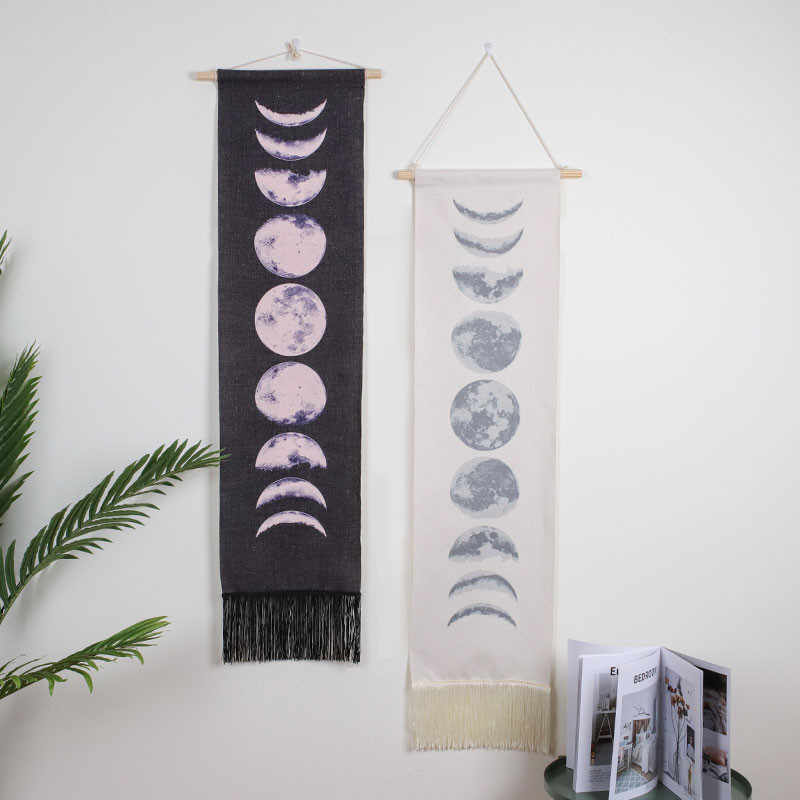 best selling 2019 products Home Decor Tapestry Hanging Tapestries Nine Phases The Full Growth Moon Cycle support dropshipping