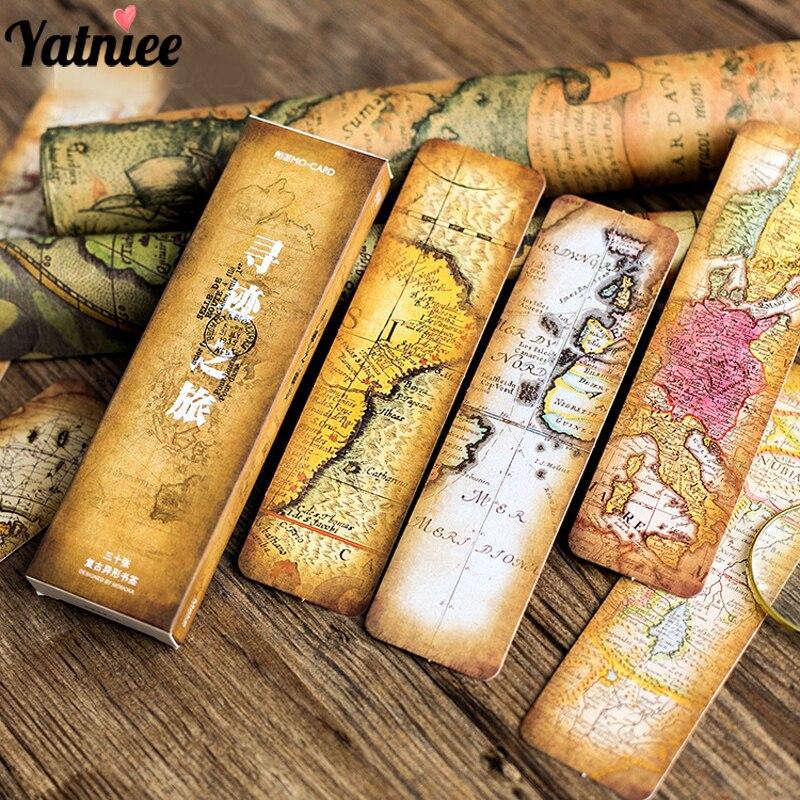 Yatniee 30pcs/Set Boxed Bookmark Gift DIY Card Paper Bookmark Book Page Marker School Supplies|Bookmark| - AliExpress