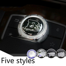 1 pcs 29mm Car Center Console Panel Knob Cover Control Button LOGO Dedicated Stickers Accessories For CLA SLK A200 A180 A260(China)