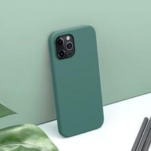 Para o iphone 12 pro max tpu caso nillkin flex caso puro pele do bebê toque macio silicone volta capa para iphone 12 mini caso