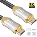1m 2m 3m 8K HDMI-compatible cable 4K 120HZ UHD HDR 48Gbps V2.1 for Xiaomi Samsung TV PS4 Splitter Switch Audio Video HD Cable