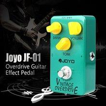Joyo JF-01 педаль для гитарного эффекта, винтажная педаль для электрогитары Overdrive, истинный обход, низкий уровень шума, педаль, аксессуары для гитары