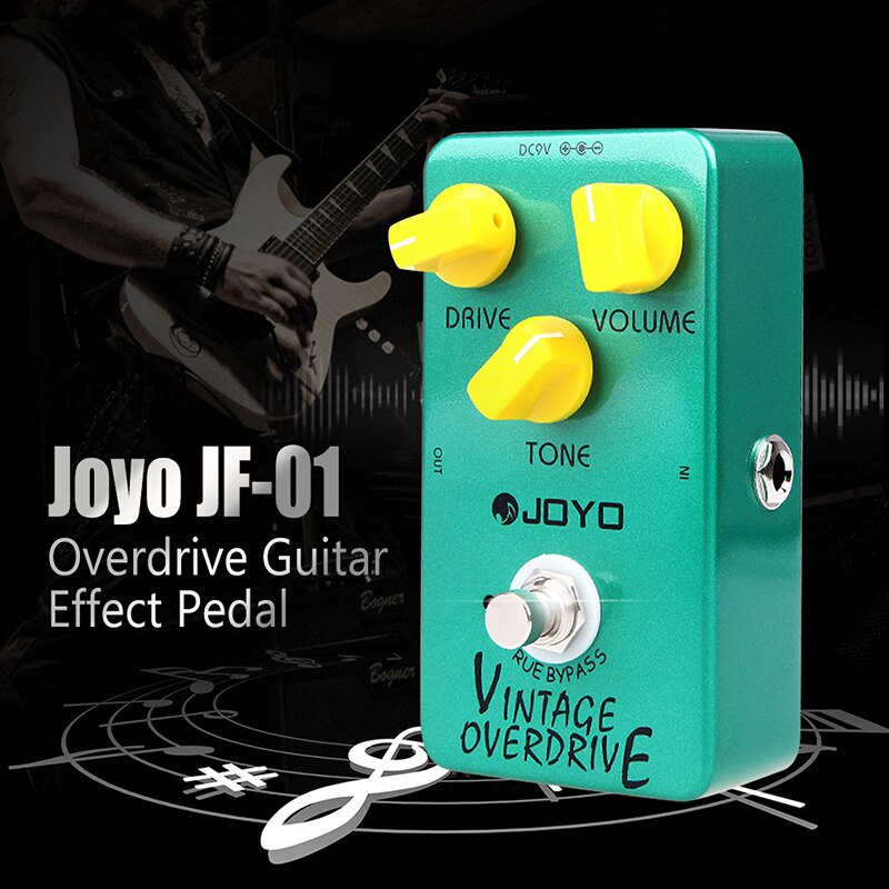 Joyo JF-01 Gitarre Effekt Pedal Vintage Overdrive Elektrische Gitarre Pedal True Bypass Geräuscharm Pedal Gitarre Teile Zubehör