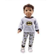 Хлопковый пижамный комплект, одежда и штаны для 43 см, Детская кукла, 18 дюймов, 45 см, кукольная одежда для девочек, детская игрушка в подарок