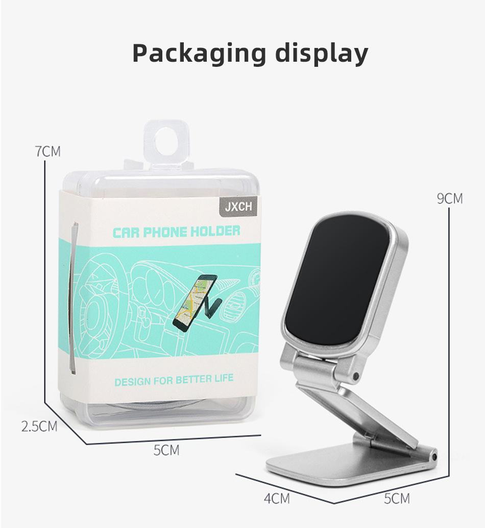 !ACCEZZ Car Magnetic Holder Phone Stand For 11 X Center Console Folding Adjustable Magnet Support Desktop Bracket (13)