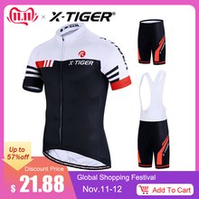 X-Tiger Bike-Uniform Cycling-Jersey-Set Bicycle-Wear Summer MTB Mans