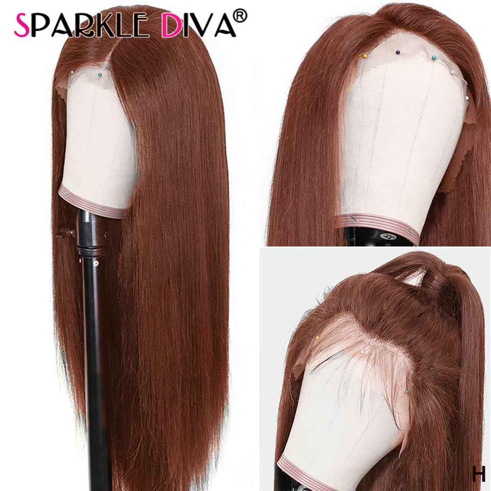 13*4 Straight Lace Front Human Hair Wigs Pre Plucked #4 #1 Lace Front Wig 150% Density Peruvian Remy Human Hair Wigs For Women