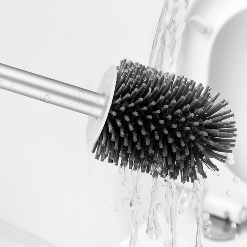 Ванная комната щетина унитаз щетка с основанием без дырок настенный туалет щетка душ комната уборка щетки дом уборка инструмент