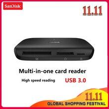 100% オリジナルサンディスク IMAGEMATE プロ USB 3.0 多機能高速カード dr 489 リーダー sd/ TF/CF マイクロ SD カードスマートメモリ