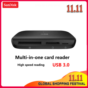 Image 1 - 100% オリジナルサンディスク IMAGEMATE プロ USB 3.0 多機能高速カード dr 489 リーダー sd/ TF/CF マイクロ SD カードスマートメモリ