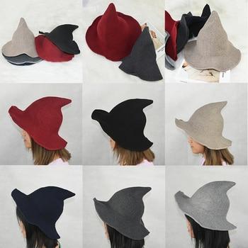 1 Piece Modern Winter Knitted Women Warm Hat Woolen Festival Party Women Lady Cosplay Fashionable Sheep Wool Christmas Warm Hat