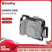 SmallRig jaula de montaje de forma 6D para cámara Canon EOS 6D, jaula con placa de Arca incorporada y orificios de localización ANCI 2407