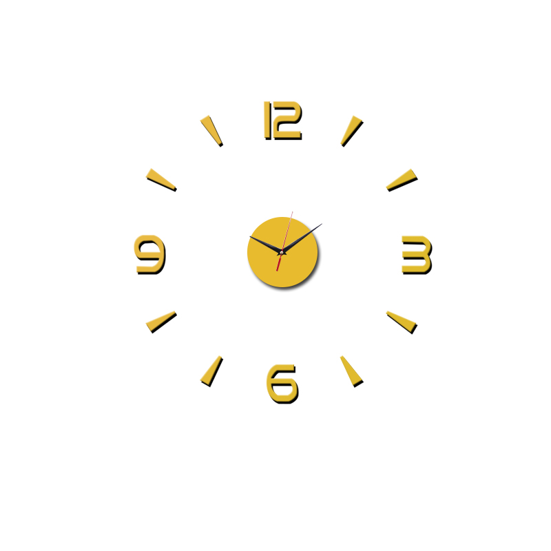 3D Wall Clock Acrylic Mirror Wall Stickers Modern DIY Wall Clocks Home Decor Living Room Quartz Needle reloj de pared 2020 NEW 13
