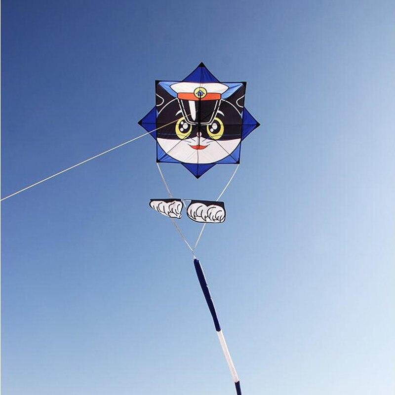 Livraison gratuite potins dessin animé chat cerf-volant mouche pour jouets de plein air pour enfants parachute cerfs-volants latawiec bobine enfants cerfs-volants veleta livre