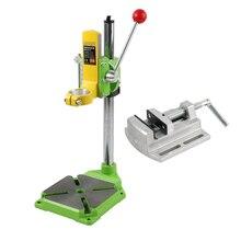 """Электрическая дрель пресс стенд стол для сверла верстак ремонтный инструмент зажим для сверления цанговый стол 90 градусов+ 2,"""" плоские тиски"""