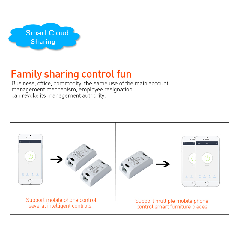H1b30a237a1384a5ba11d88e4b05734cf3 - QIACHIP Smart Home Wifi Switch 10A 2200W 433Mhz Wireless RF Remote Control Switch For Alexa Google Home Timer Automation Module