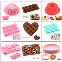 Silicone Cake Mold big Flower 3D chocolate shape pastry Baking Soap Tools Bread cake for Pizza Pan Diy Birthday Wedding NEW