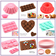 Silicone Cake Mold big Cake Flower 3D chocolate shape pastry Baking Soap Tools Bread cake for Pizza Pan Diy Birthday Wedding NEW(China)