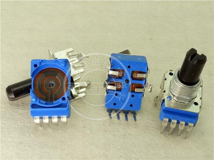 5 шт. 142 вертикальный один потенциометр B10K B103 60 градусов ручка с длиной резьбы 15MMF 4 фута 103