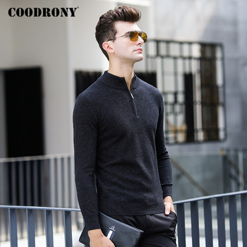 COODRONY Brand Sweater Men Zipper Turtleneck Pullover Men Clothing Autumn Winter Thick Warm 100% Merino Wool Slim Sweaters P3025 coodrony brand sweater men zipper turtleneck cardigan men clothing autumn winter thick warm 100% merino wool sweater coat p3026