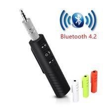 Bluetooth alıcısı araba Bluetooth AUX 3.5mm müzik Bluetooth ses alıcısı Handsfree çağrı araç verici otomatik adaptör