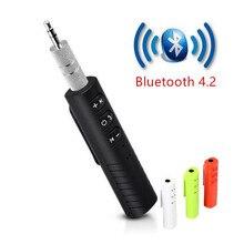 Thiết Bị Thu Bluetooth Xe Hơi Bluetooth AUX 3.5Mm Âm Nhạc Nhận Âm Thanh Bluetooth Nghe Gọi Rảnh Tay Xe Máy Phát Tự Động Adapter