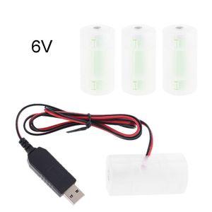 Image 5 - D Batterij Eliminator Usb Voeding Kabel Kan Vervangen 1 Tot 4 Stuks LR20 D Batterij