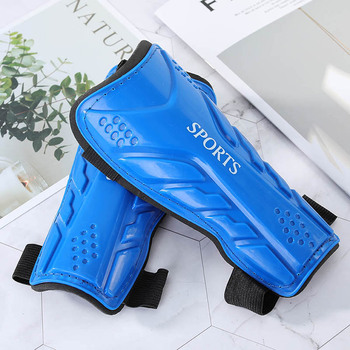 1 Pair Soccer Football Guards Pads Strong Knee Support Professional Protective Leg Sleeves Gear Shinguards Adult Sport Shields image
