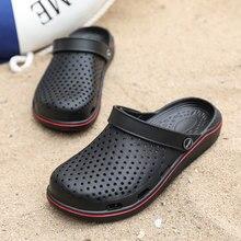 Verão novo sandálias de pvc leve oco chinelos de praia antiderrapante homens mulher jardim tamanco sapatos casual666
