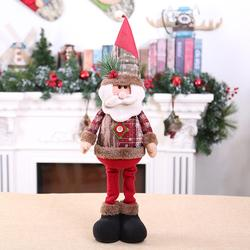 Christmas Decoratios For Home Dolls Xmas Tree Decor New Year Ornament Reindeer Snowman Santa Claus Standing Doll New Year Gift 5