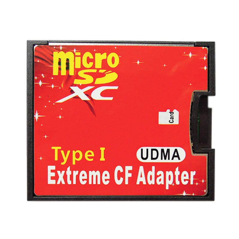 Red Dual Slot Micro SD SDHC SDXC TF To CF Adapter Hight Quality  Micro SD To Extreme Compact Flash Type I Card Converter