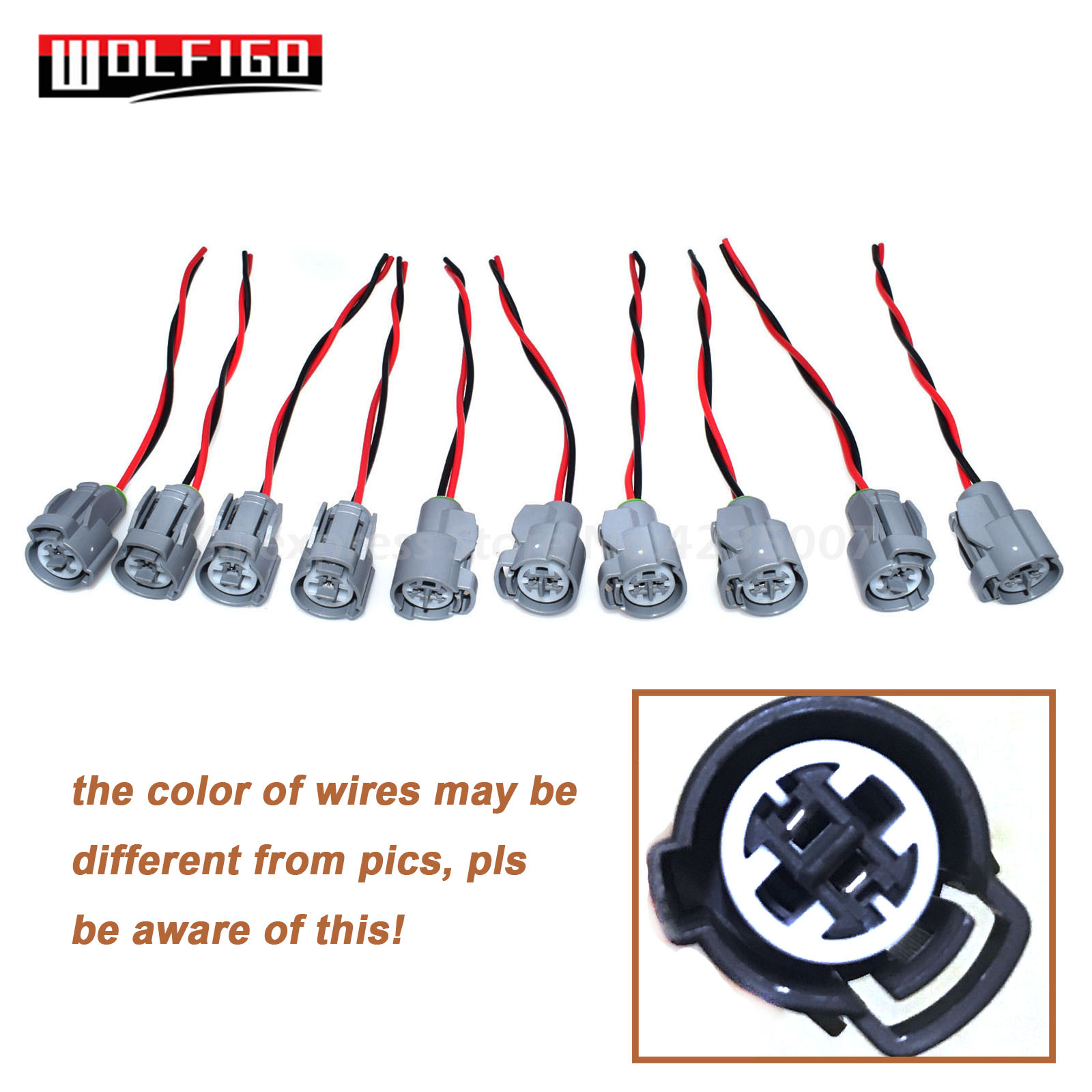 Fits Ford Radiator Cooling Fan Connector Harness Plug Pigtail