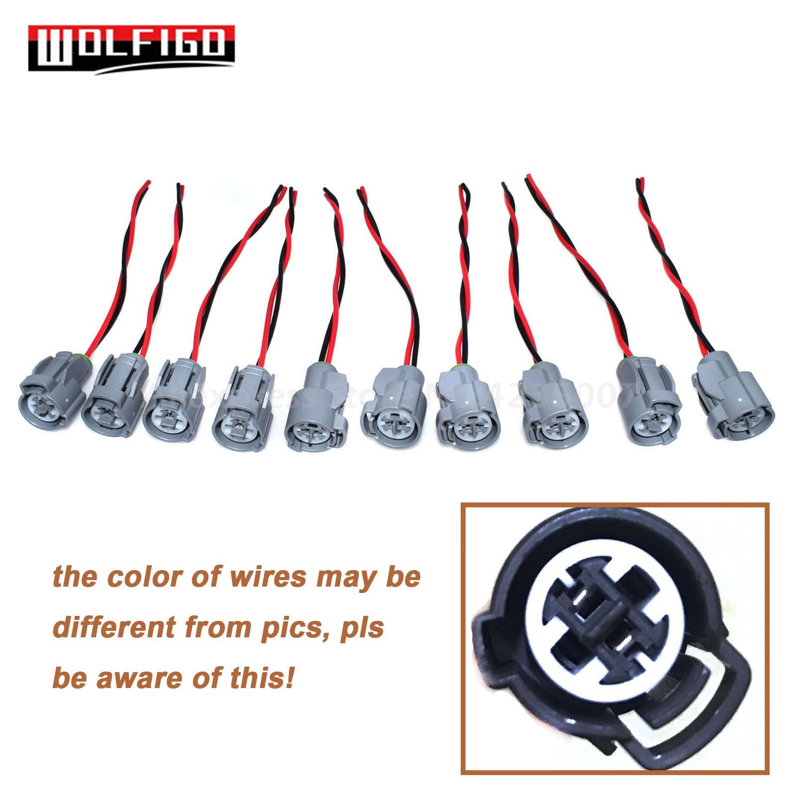 WOLFIGO FOR HONDA INTEGRA CIVIC IAT Intake Air Temperature Fan Knock Coolant Temp Sensor Plug Pigtail/Connector Harness New
