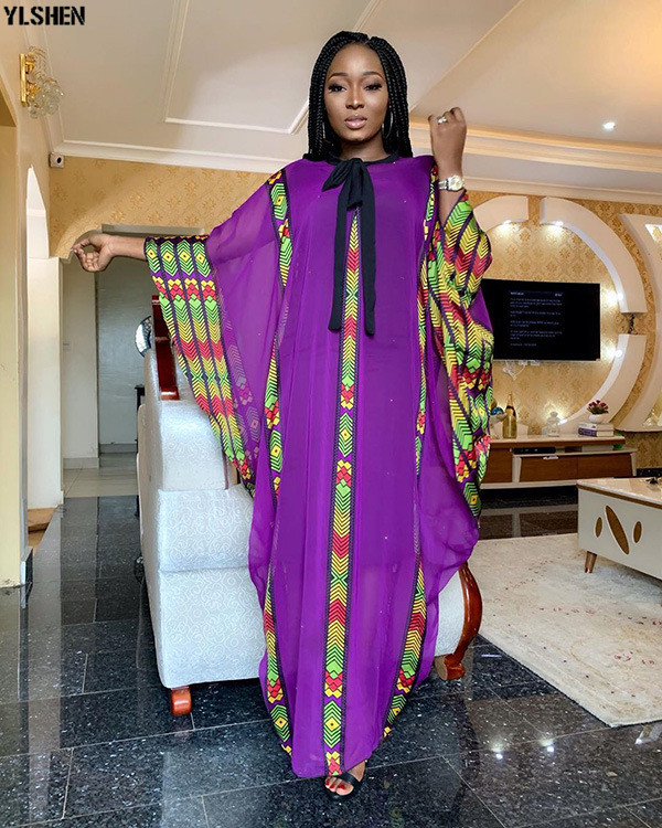 New Fashion African Dresses Clothes For Women Dashiki Chiffon 2019 Style Boubou Robe Africaine Party Long Africa Dress Clothing