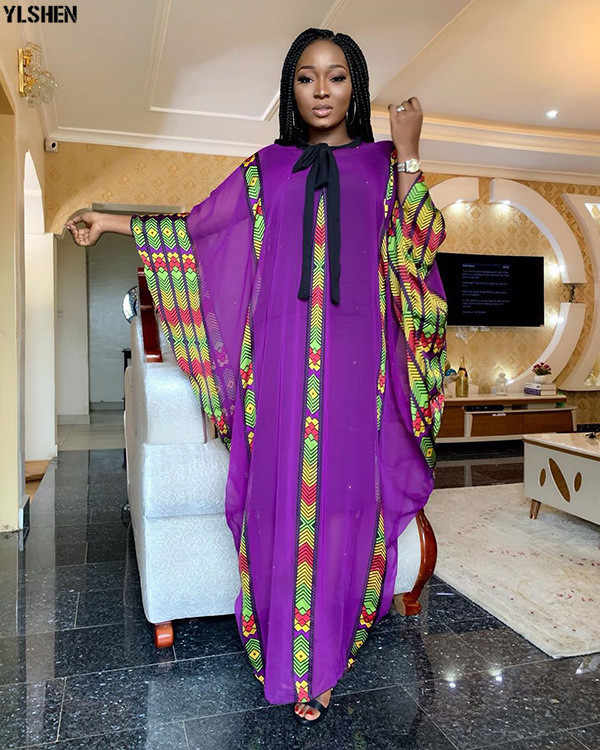 New Fashion African Dresses Clothes For Women Dashiki Chiffon 2019 Style Boubou Robe Africaine Party Long Africa Dress Clothing Aliexpress