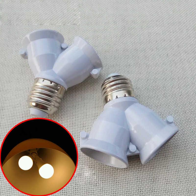 Винт E27 светодиодное освещение лампочка, розетка отклонения в размерах на 1-2 сплиттер адаптер