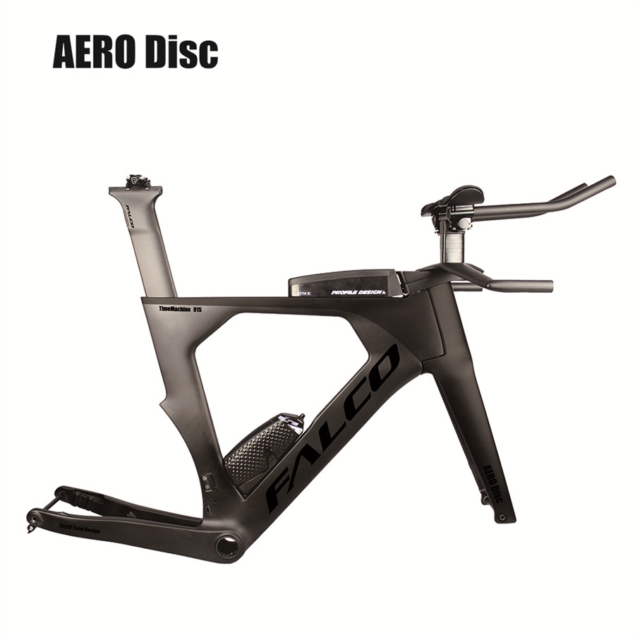 Free Shipping Falco Black Aero Triathlon Bike Carbon Flat Mount BB386 With SGS Tested Carbon Time Trial Bicycle Frame TT915