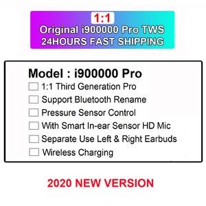 i900000 Pro Wireless Earphone Tws 1:1 Air 3 Pressure Sensor Bluetooth Earphones Earbuds H1 Chip Pk i500 i1000 i9000 i50000 tws