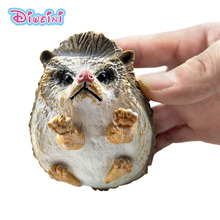 New toys Simulation Hedgehog action figure plastic Animal Model garden decoration figurine one piece Educational Gift for Kids