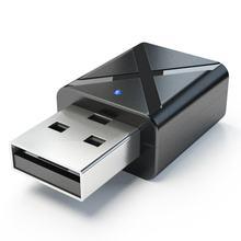 Mini bluetooth 5.0 receptor de áudio transmissor 3.5mm aux adaptador sem fio para o carro pc tv alto falante fone de ouvido usb power