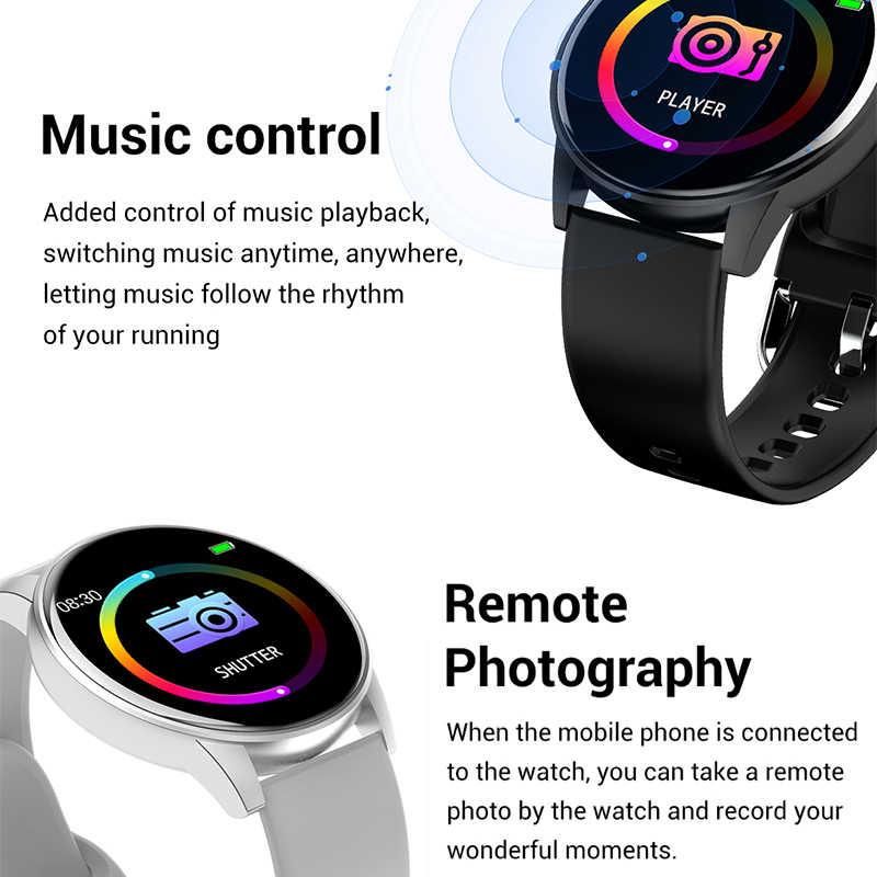 LEMFO Q5pro ساعة ذكية للنساء الرجال ساعة ذكية أندرويد IOS دعم توقعات الطقس معدل ضربات القلب الصحة المقتفي Blutoot دفع/الموسيقى