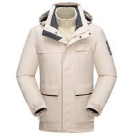 Winter Jacket Men Windbreaker Waterproof Jacket Hooded Detachable Outdoor Sport Coat Thick Warm Softshell Jacket Men Corta Vento