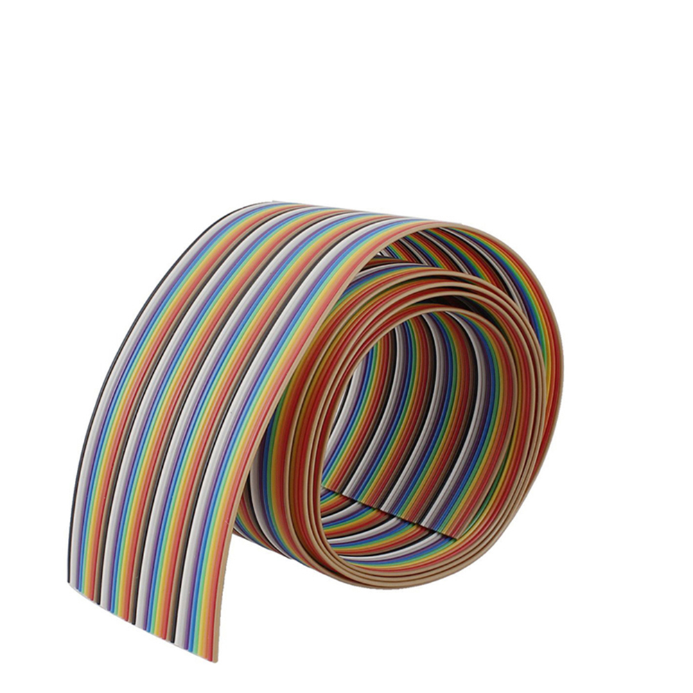 40P 1.27mm PITCH Color Flat Ribbon Cable Rainbow DuPont Wire 1M 2M 3M 5M 10M for FC Dupont Connector Line Pitch Connect Wires