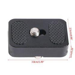 Aluminum alloy PU25 mini quick release plate tripod PTZ universal digital micro single camera quick release plate New